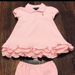 Ralph Lauren Baby Polo Dress & Bloomer (9 Mos.)